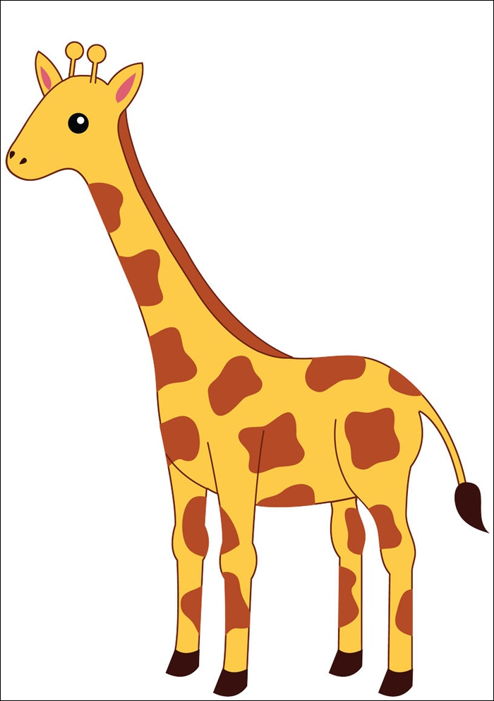Animated Picture Of A Giraffe