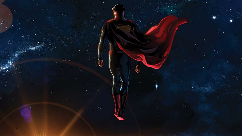 Animated Pictures Of Superman Flying