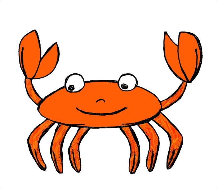 Cartoon Crab Drawing Pictures