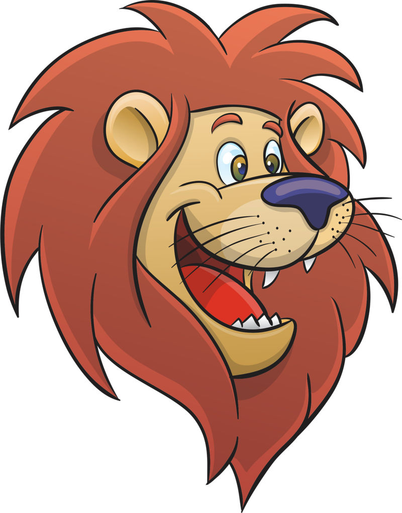 Pictures Of Animated Lion Face