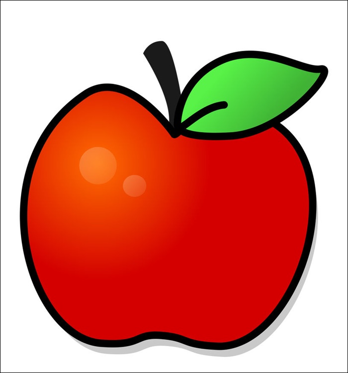 Animated Pic Of An Apple