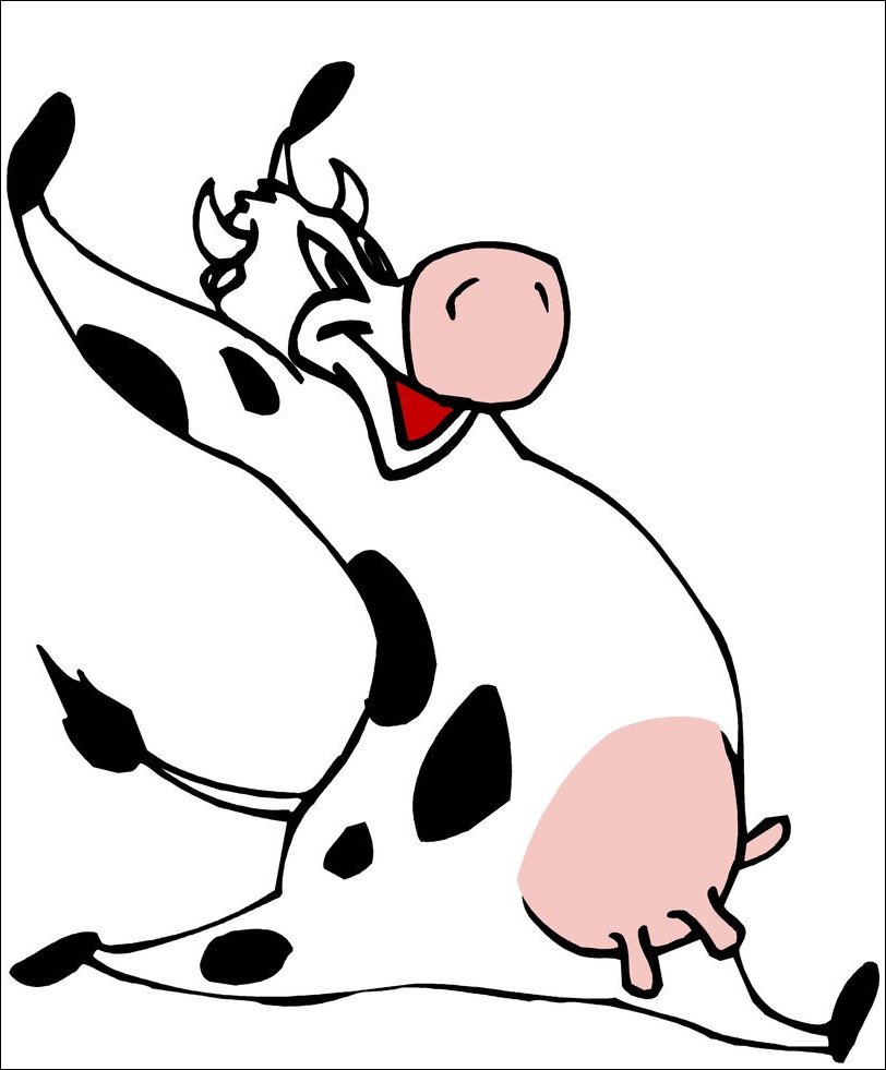 Animated Cartoon Cow Images