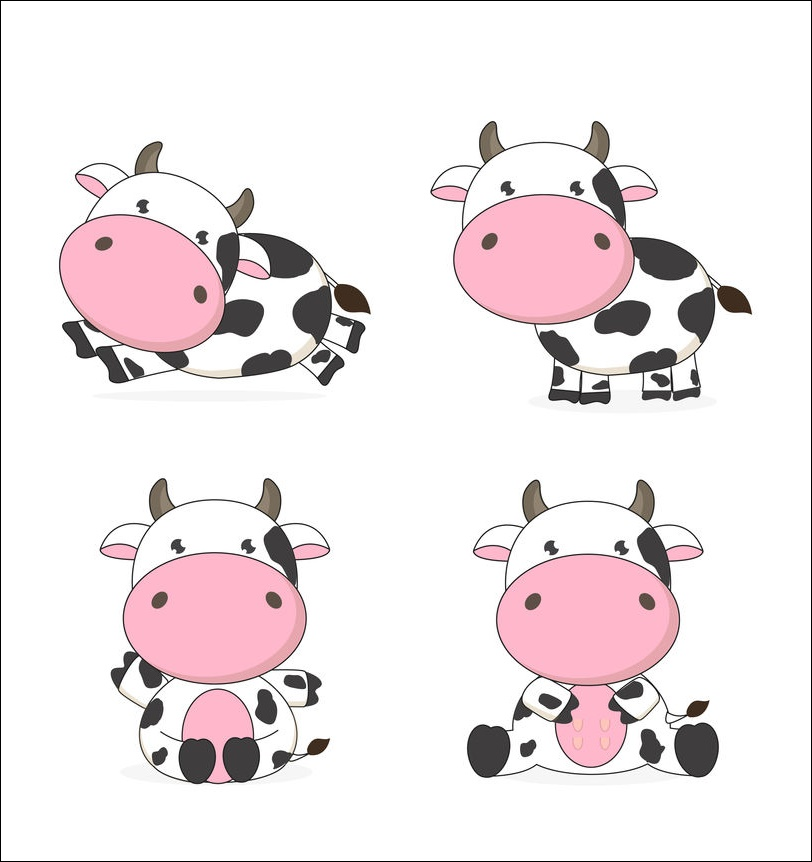 Cute Animated Cow Picture