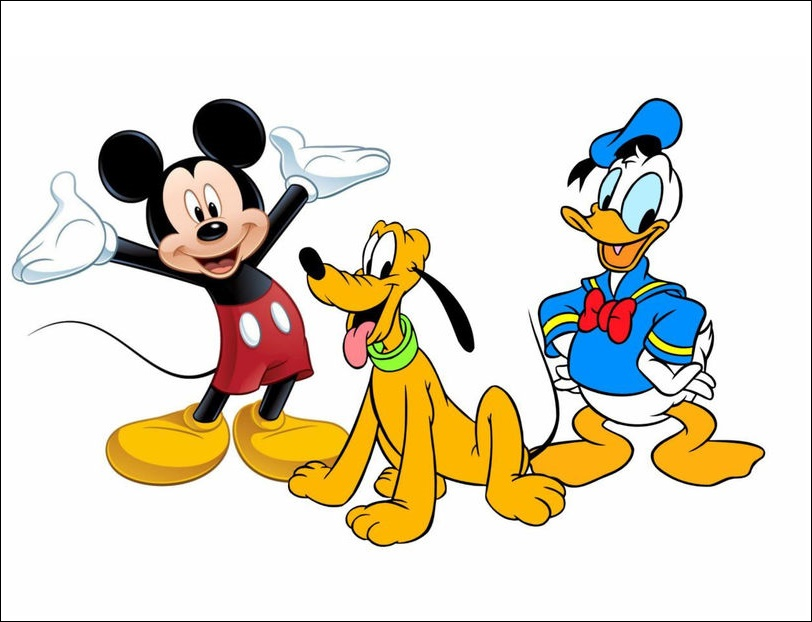 Donald Duck And Mickey Mouse