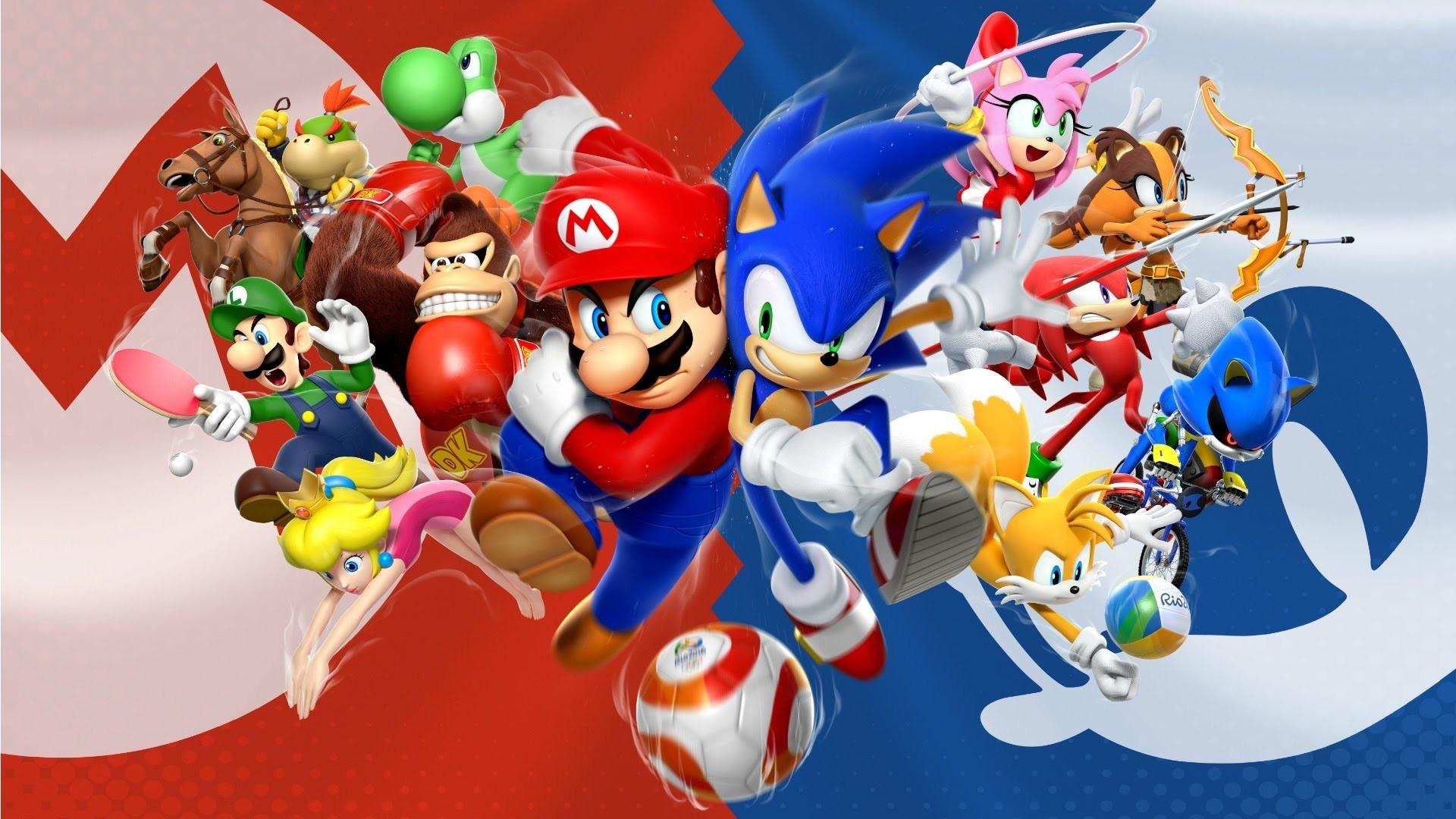 Sonic And Mario Wallpapers