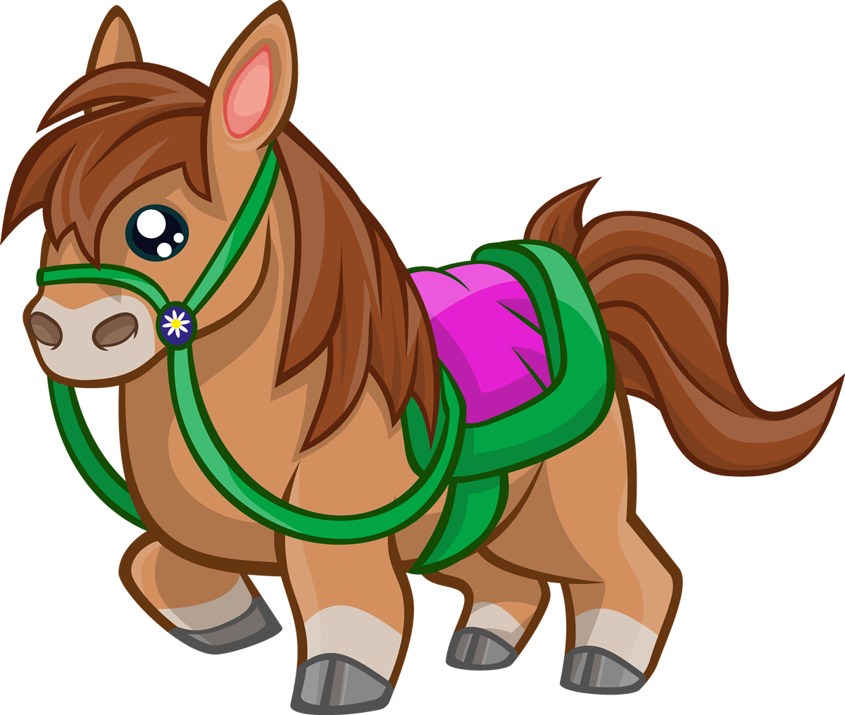 Cute Animated Horse Pictures