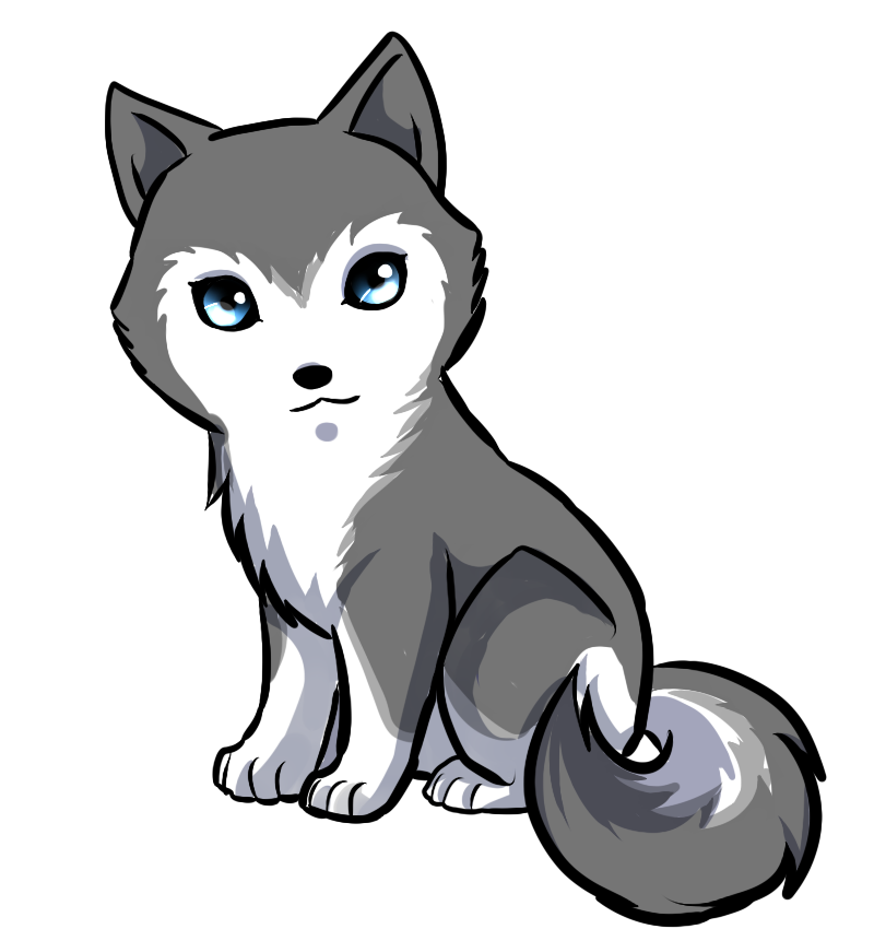 Cute Animated Wolf Pictures