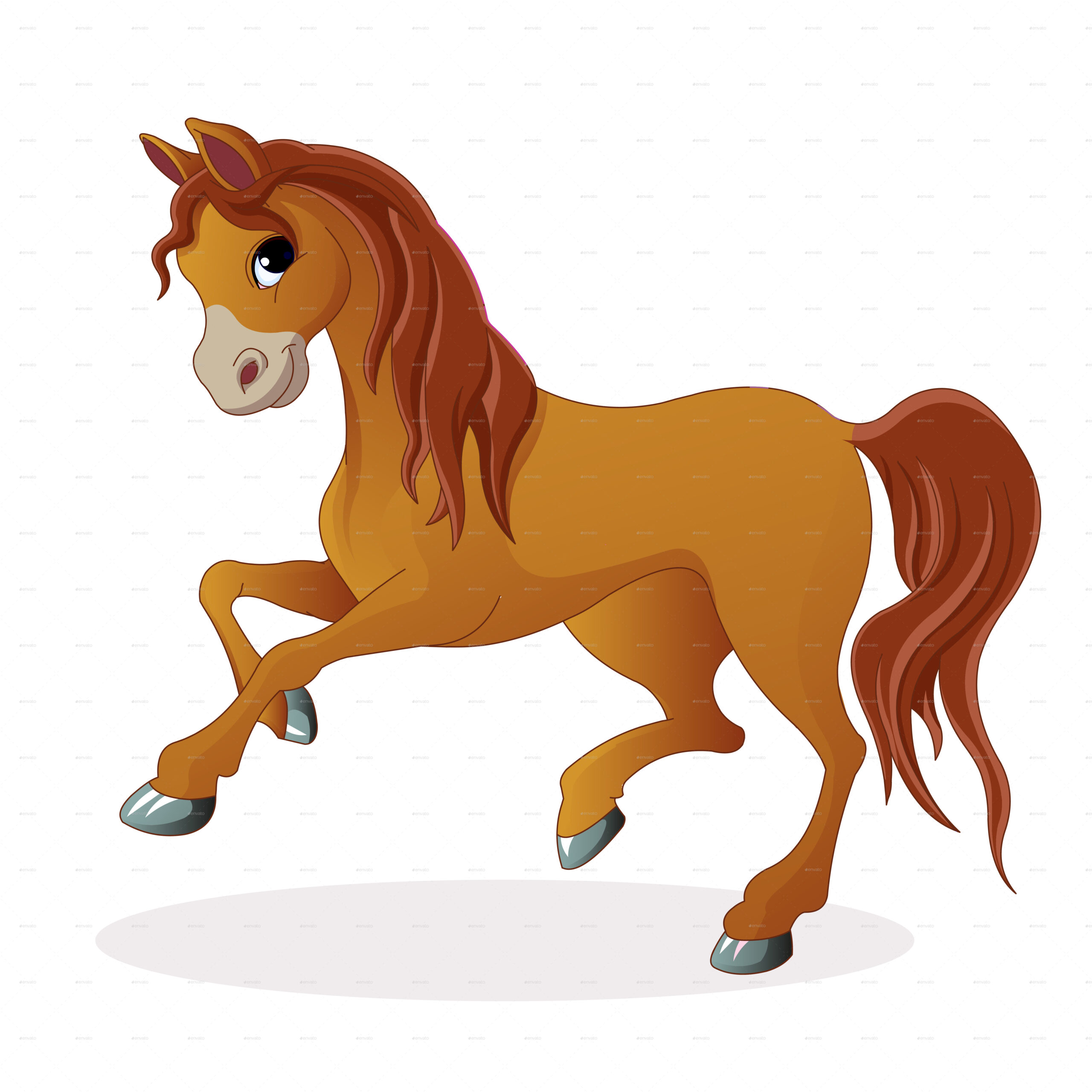 Horse Cartoon Pictures Free