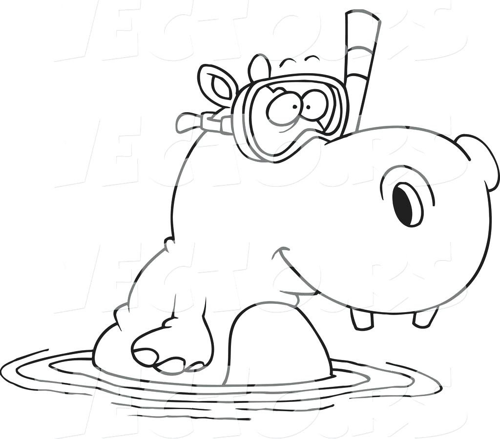 Adult Hippo Coloring Pages