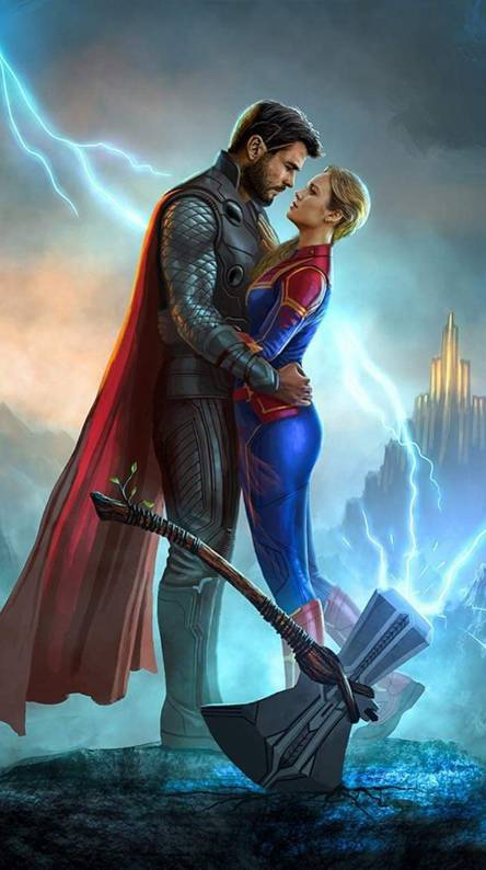 Captain Marvel And Thor Wallpapers