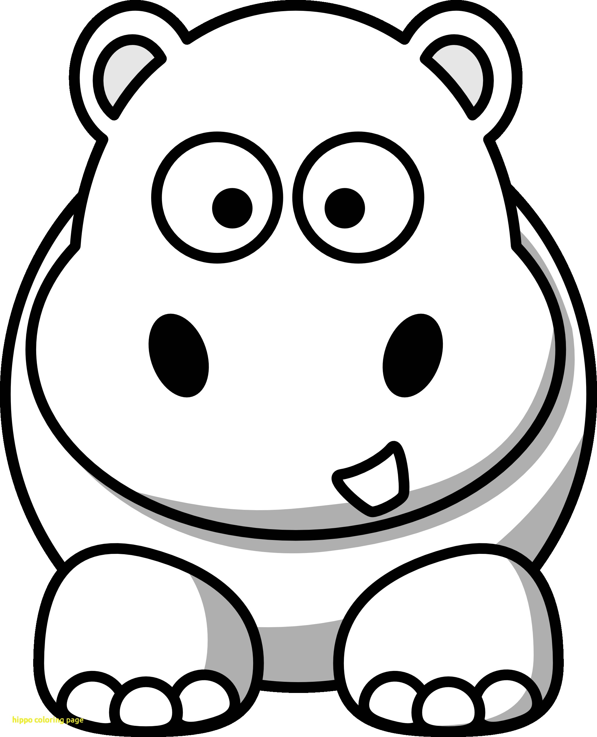 Coloring Pages For Kids Hippo