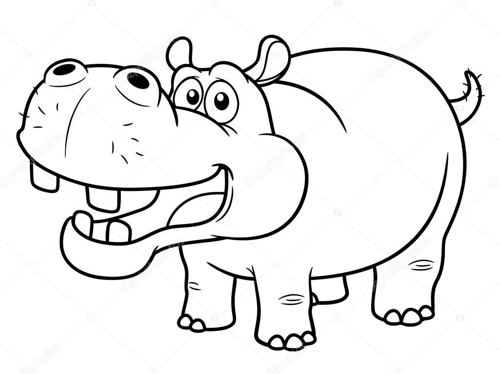 Hippo Adult Coloring Book Pages Hard