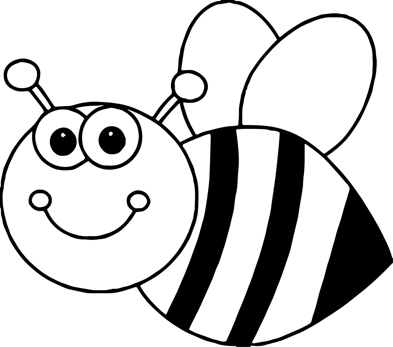 Printable Bee Coloring Pages