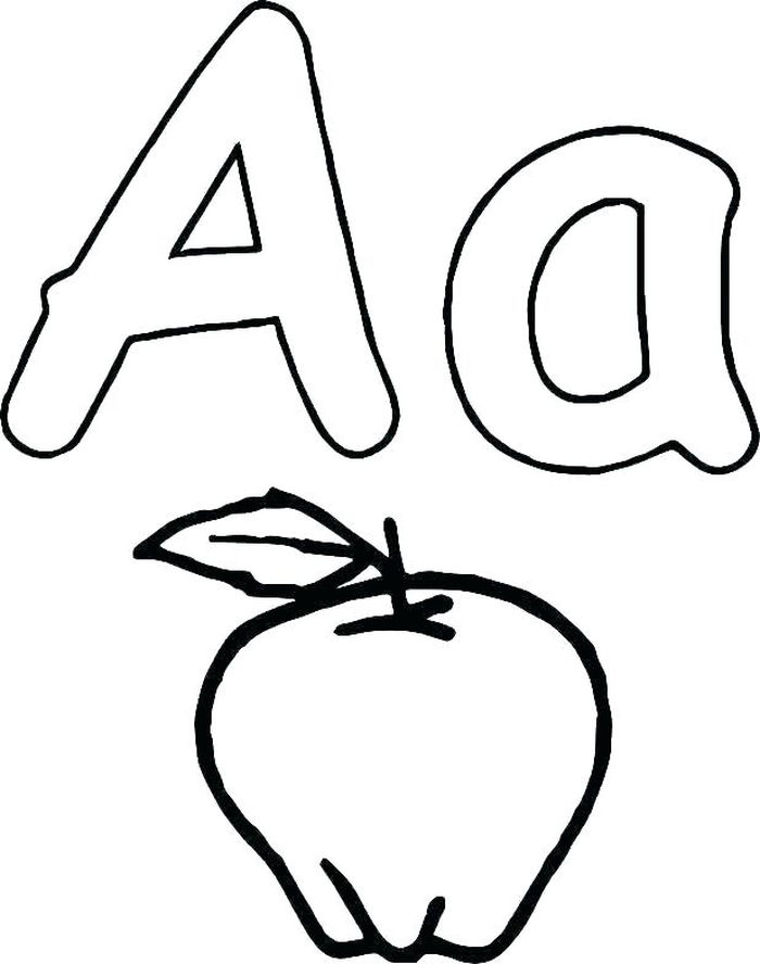 A Is For Apple Coloring Pages
