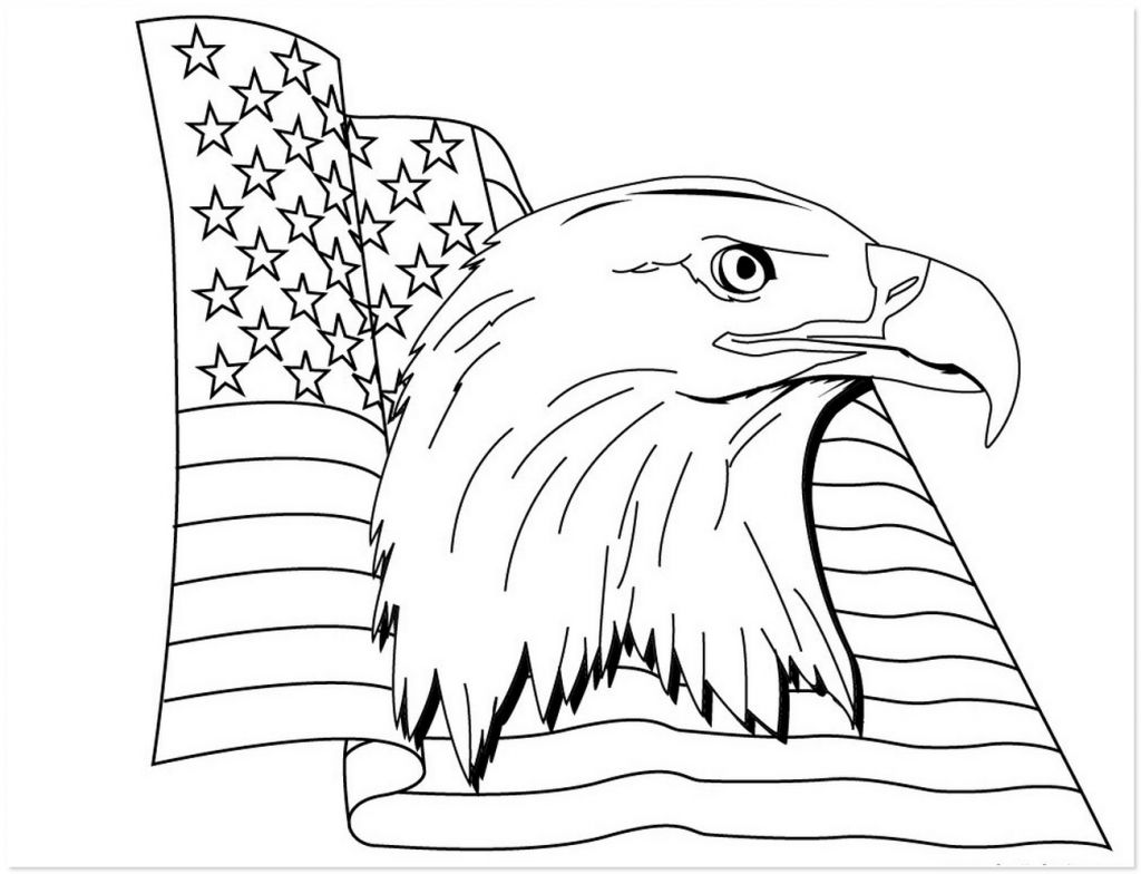 American Bald Eagle Coloring Pages For Adults