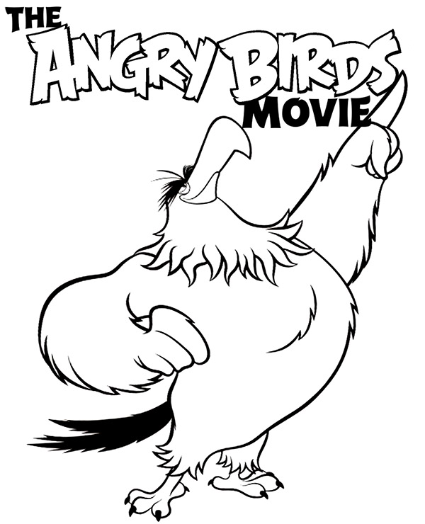 Angry Birds Mighty Eagle Coloring Pages