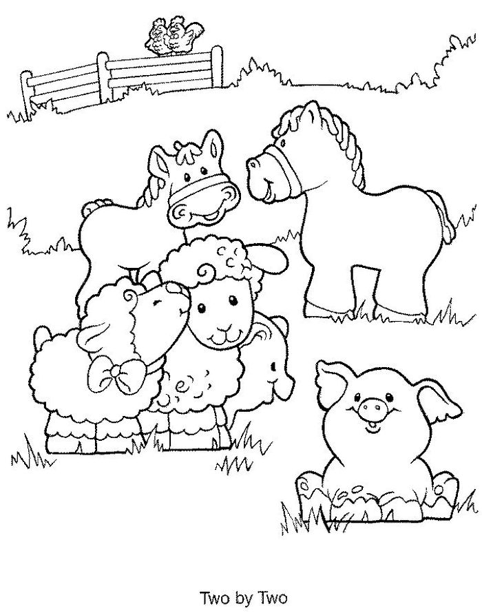 Animated Baby Farm Animal Coloring Pages