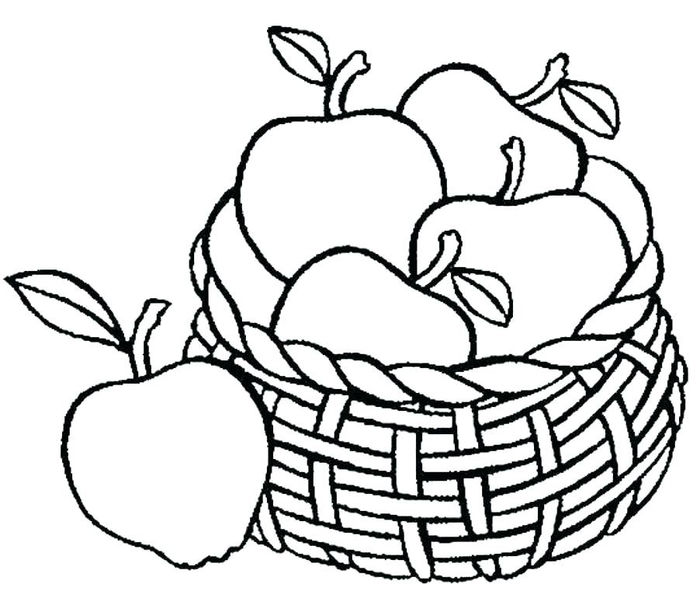 Apple Coloring Pages For Adults
