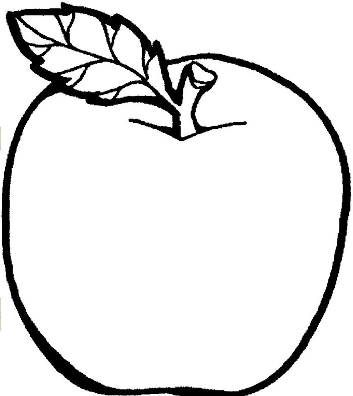 Apple Coloring Pages Free Printable
