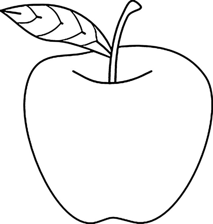 Apple Printable Coloring Pages