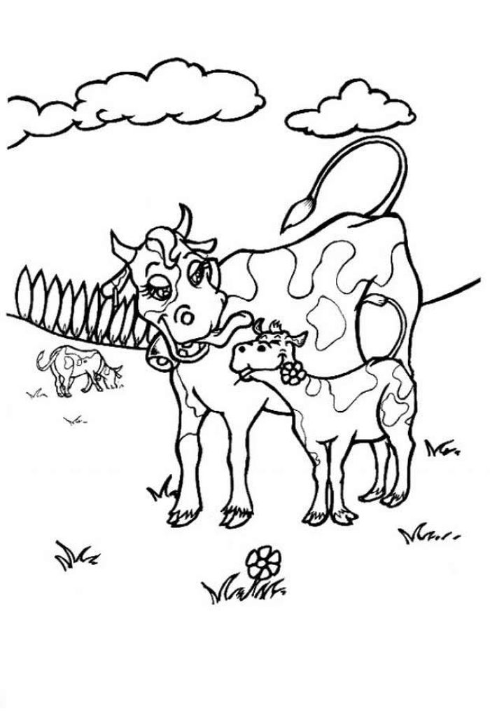 Are You My Mother Coloring Pages Cow