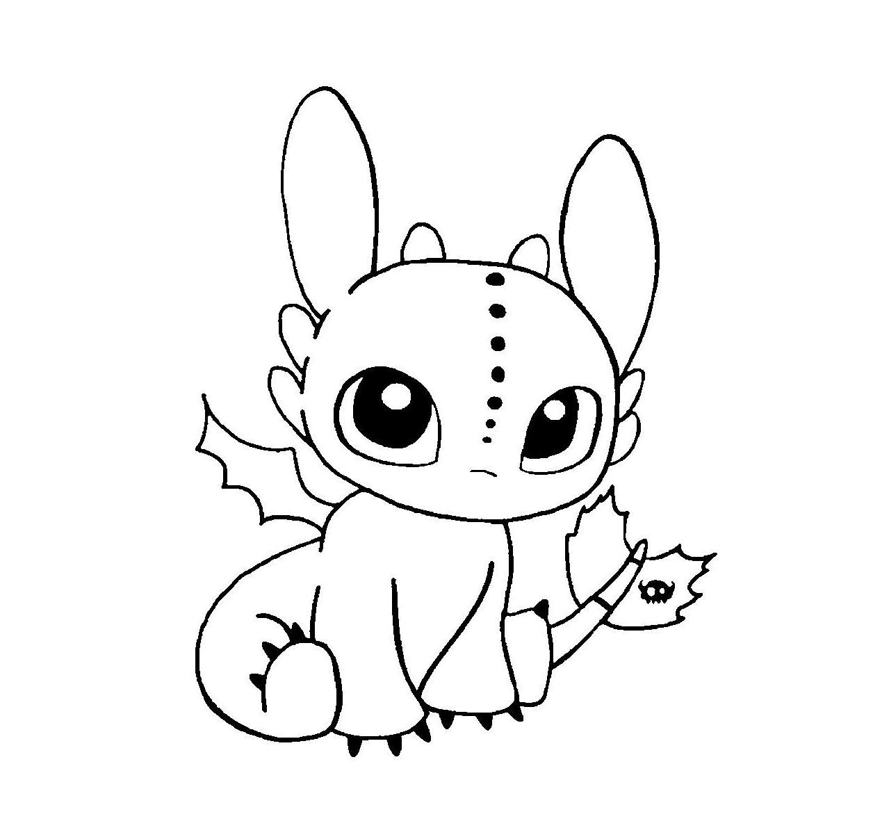 Baby Toothless Coloring Pages