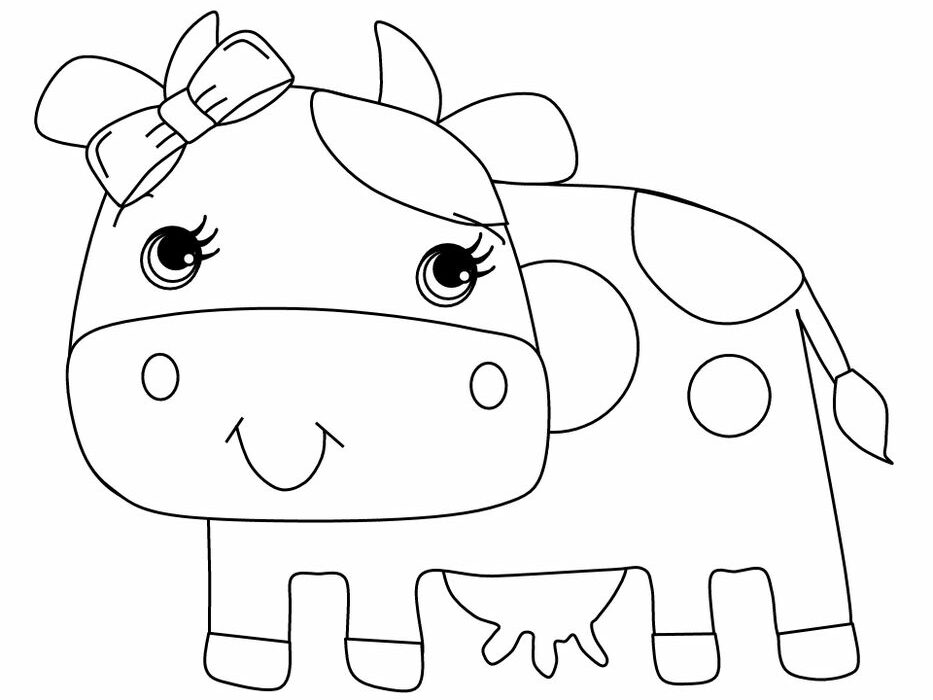 Beanie Baby Coloring Pages Cow