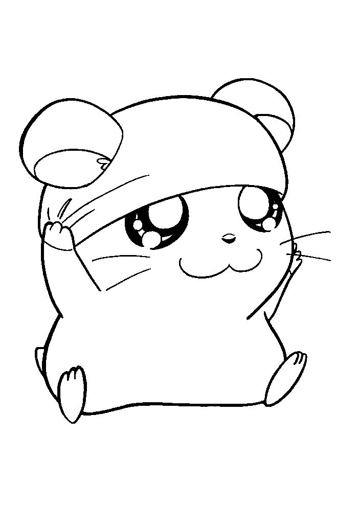 Chibi Hamster Coloring Pages