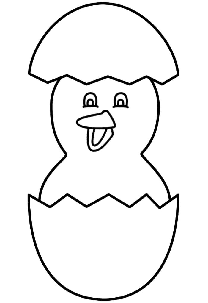 Chicken Easter Coloring Pages