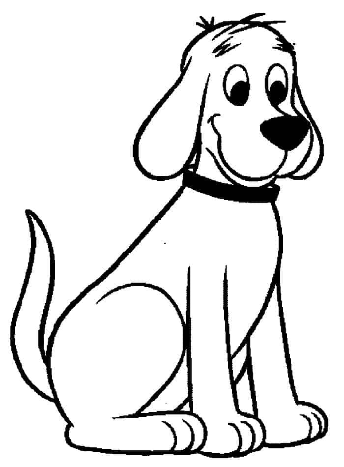 Clifford The Big Red Dog Coloring Pages