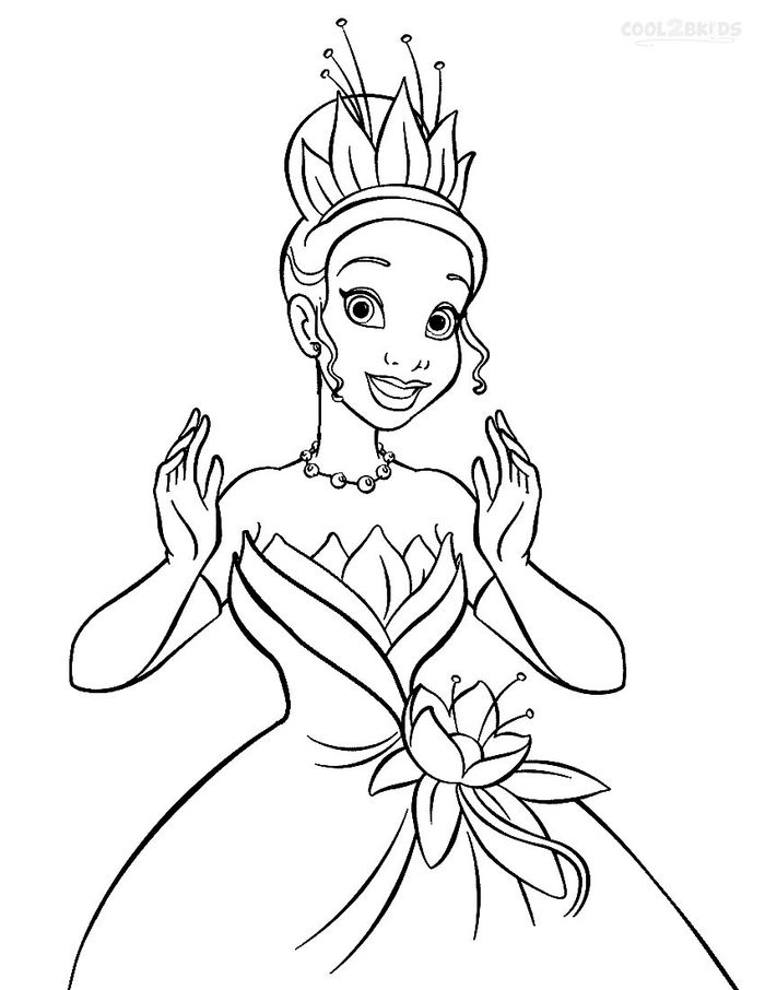 Coloring Pages Disney Princess And The Frog
