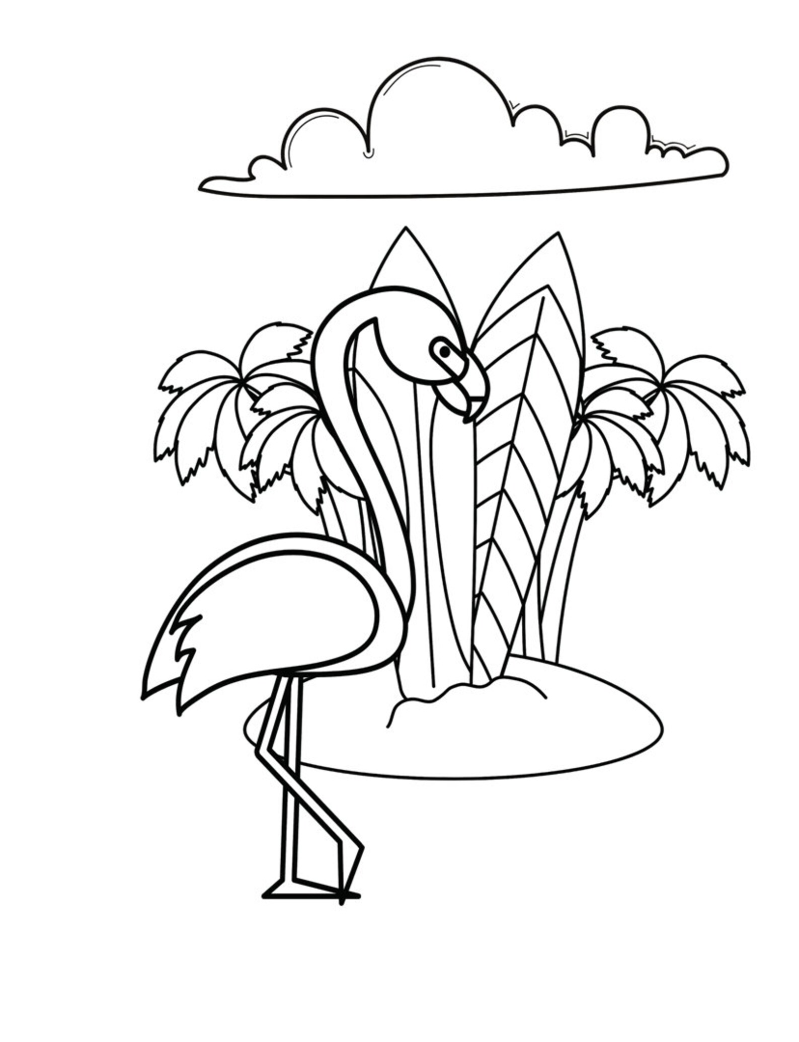 Coloring Pages Flamingo Printable