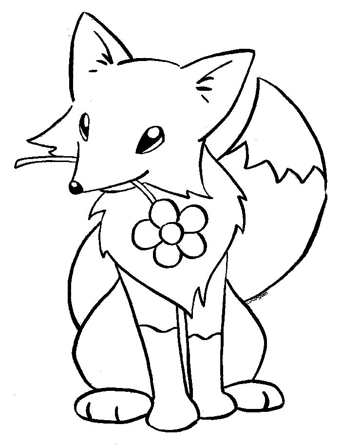 Coloring Pages For Kids Fox