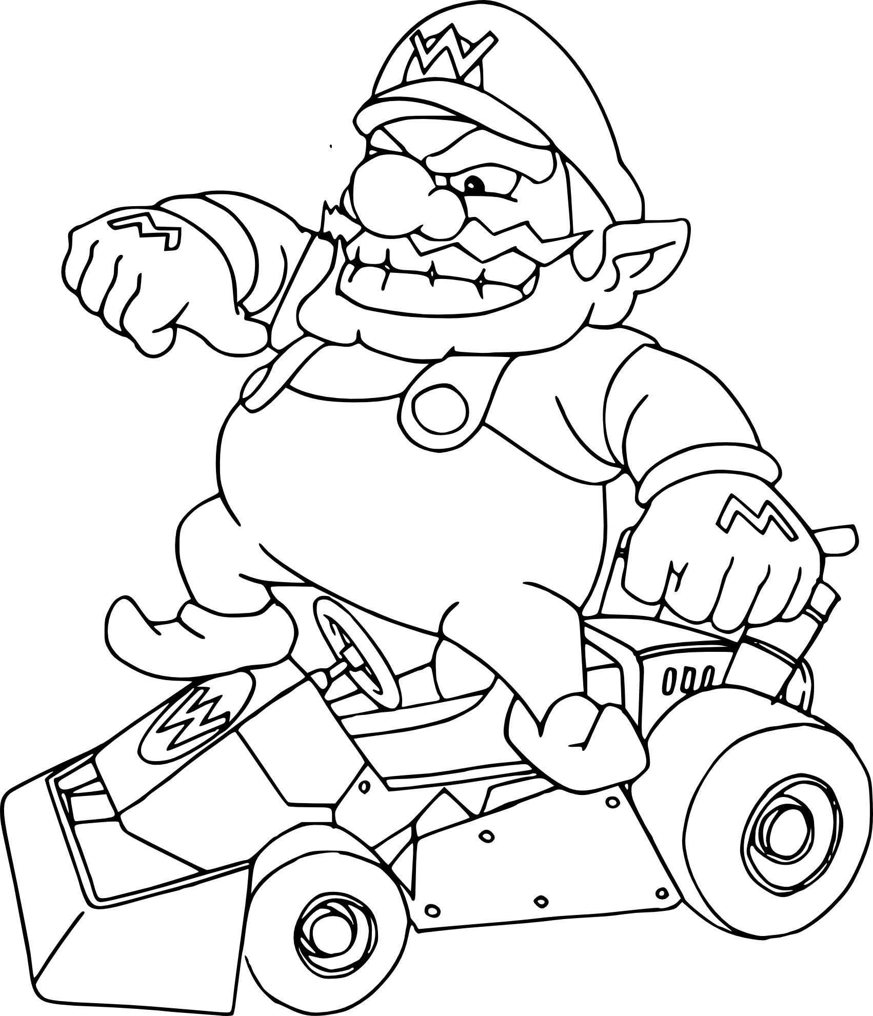 Coloring Pages Mario Kart Wii