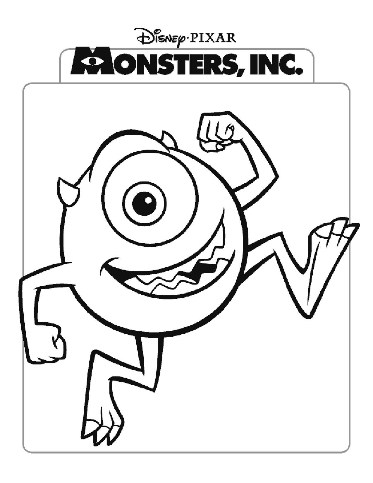 Coloring Pages Monsters Inc