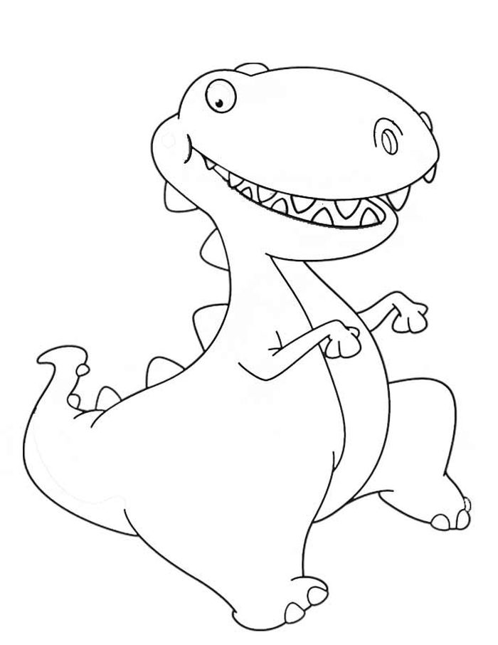 Coloring Pages Of Cartoon Dinosaurs