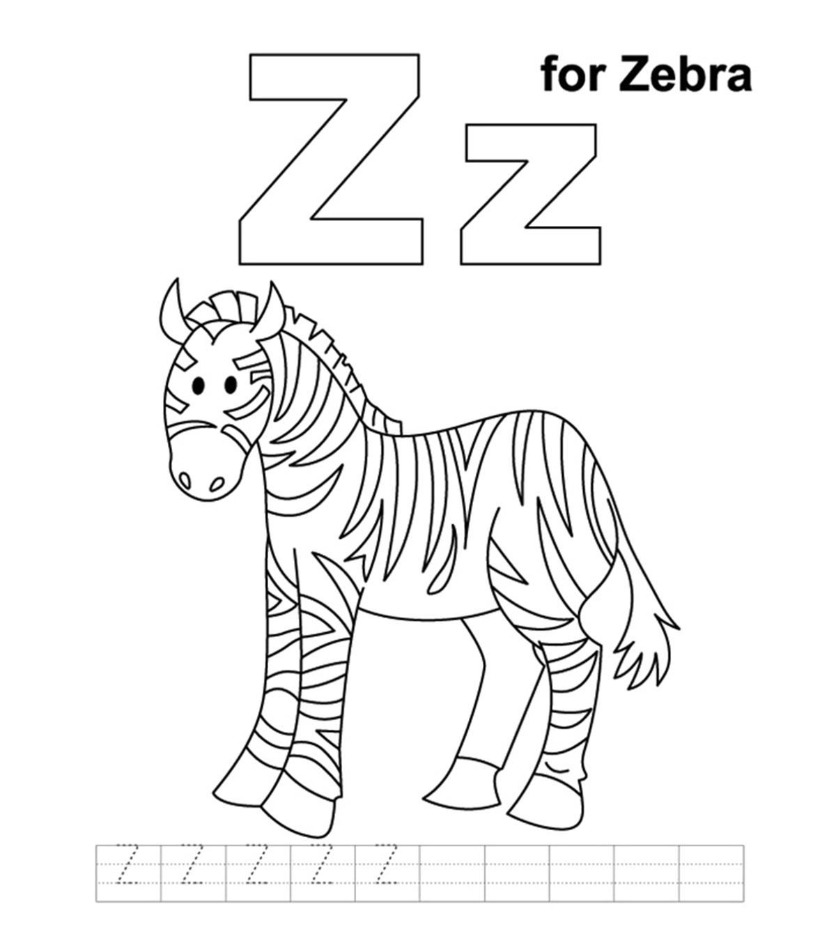 Coloring Pages Of Zebra Stripes