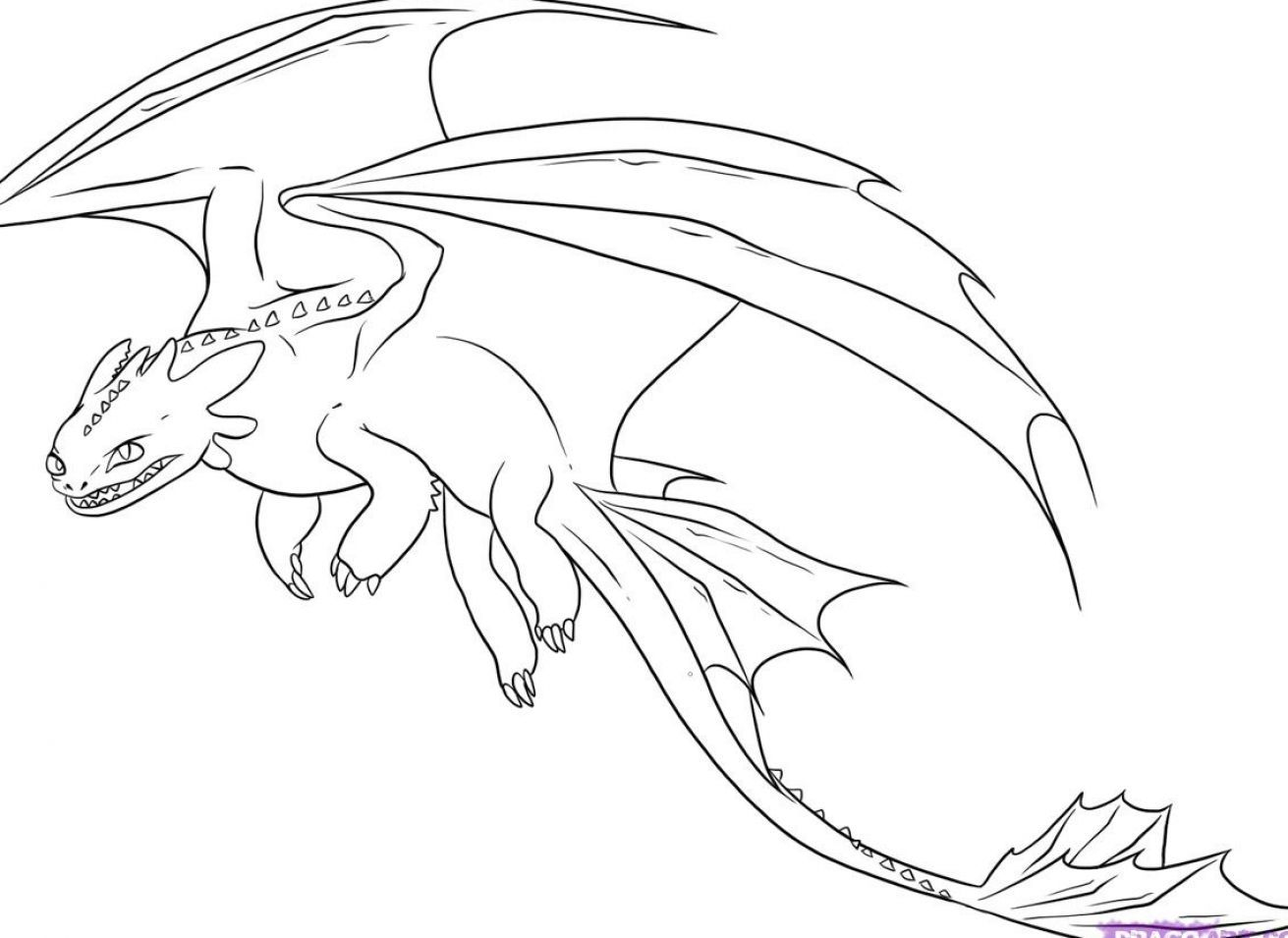 Coloring Pages Toothless