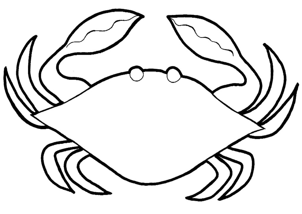 Crab Coloring Pages Free
