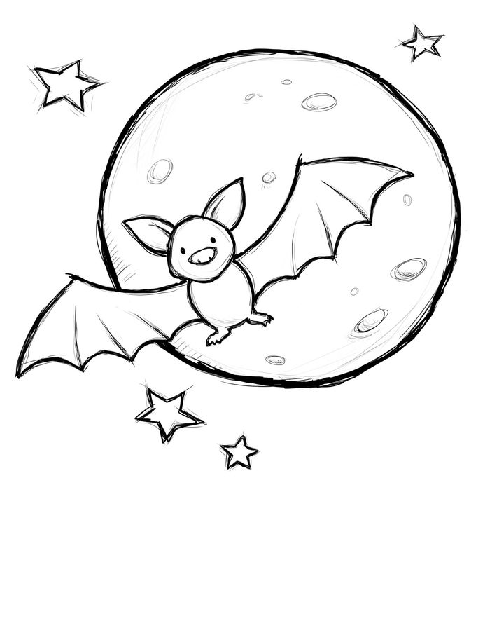 Cute Animal Coloring Pages Bat