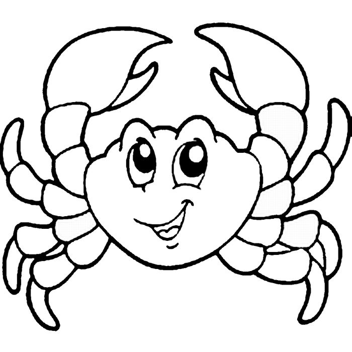 Cute Crab Coloring Pages