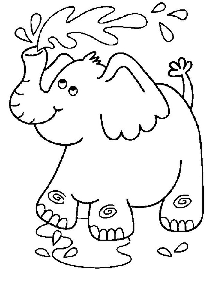 Cute Elephant Coloring Pages
