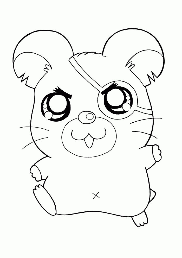 Cute Hamster Printable Coloring Pages