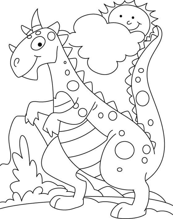 Dinosaurs Coloring Book Pages