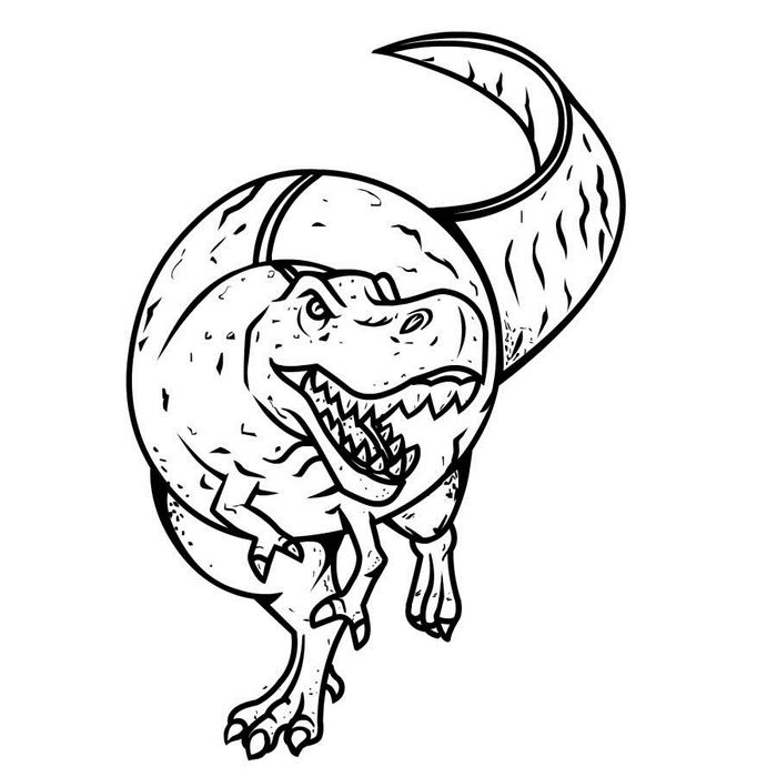Dinosaurs Coloring Pages T Rex