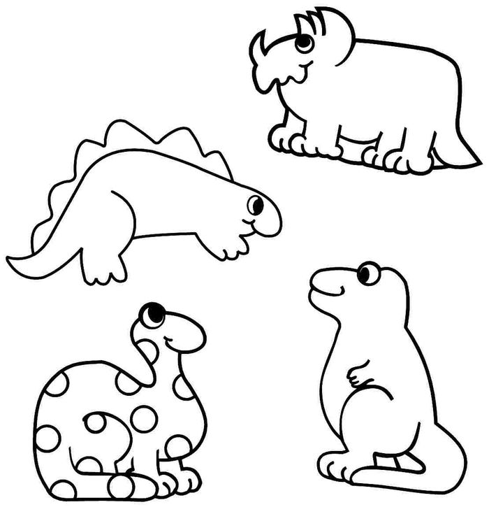 Dinosaurs For Kids Coloring Pages