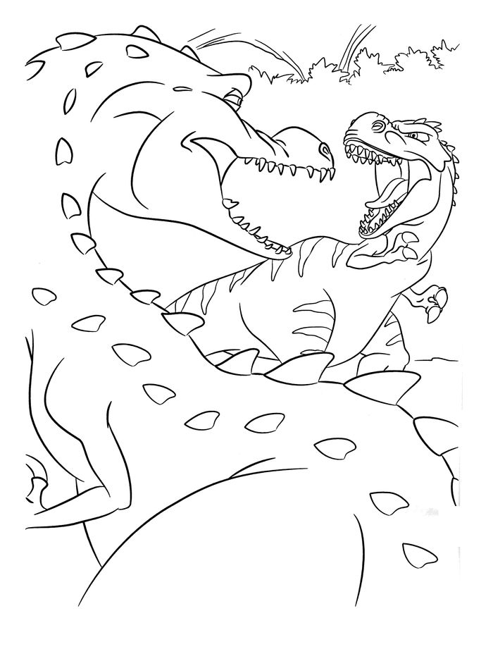 Dinosaurs King Coloring Pages