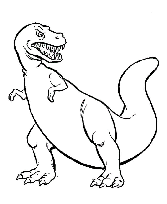 Dinosaurs Print Out Coloring Pages