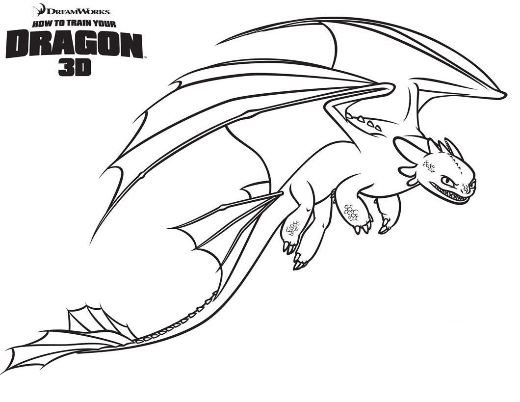 Disney Toothless Coloring Pages