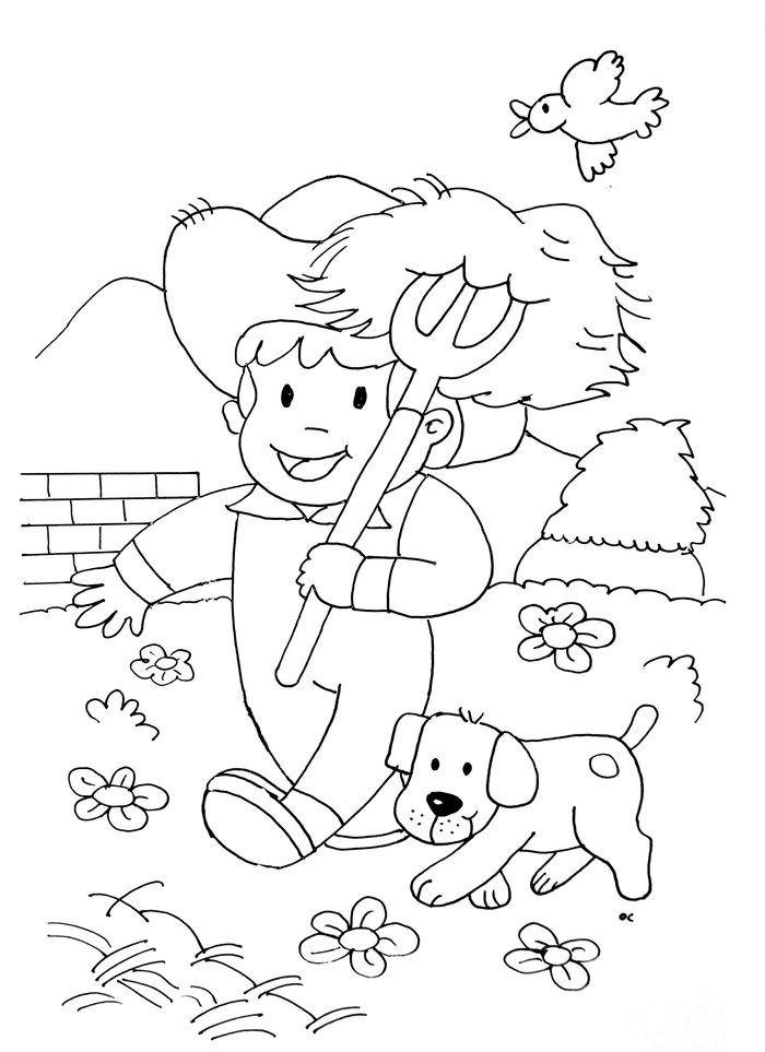 Farm Animal Coloring Book Printable Pages
